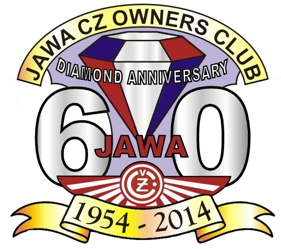 Jawa CZ Owners Club 60th Anniversary Diamond badge