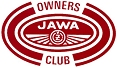 Owners Club sticker, red on white, approx 88 x 58mm