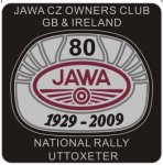 Jawa CZ Owners Club 2009 National Rally Uttoxeter badge